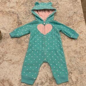 Carter's warm onsie suit with hood